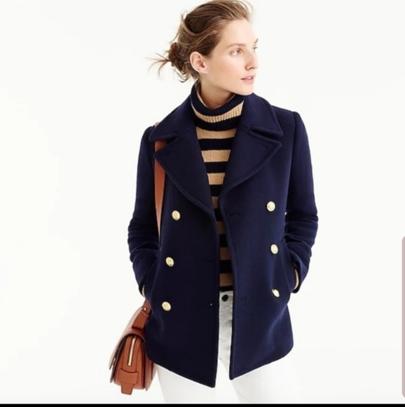J. Crew Jackets & Blazers - Jcrew navy blue peacoat with gold hardware